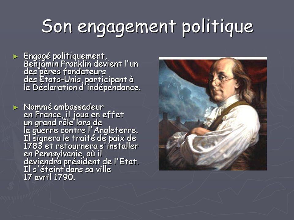 Son engagement politique