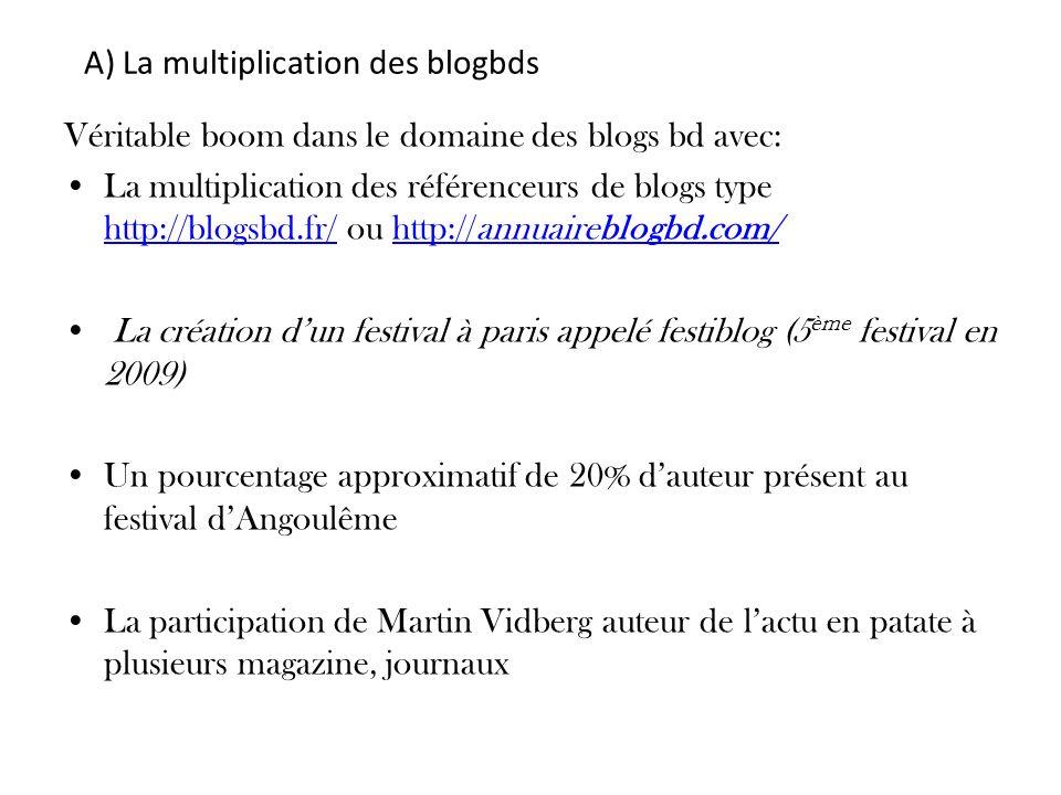A) La multiplication des blogbds