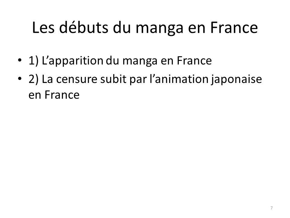 Les débuts du manga en France