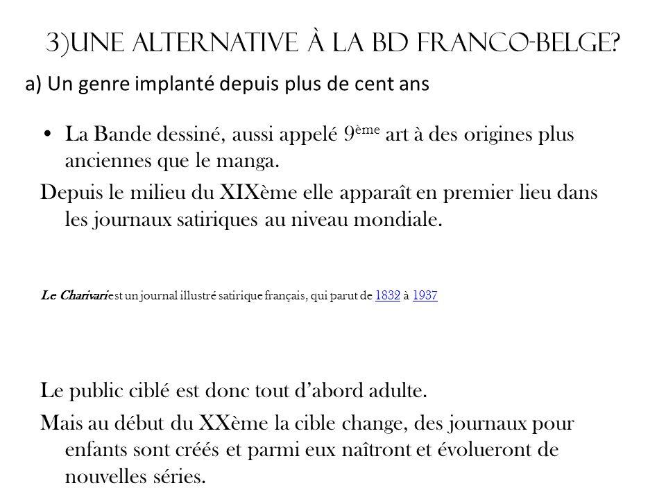3)Une alternative à la Bd Franco-belge