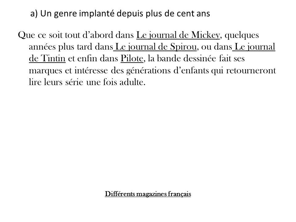 Différents magazines français