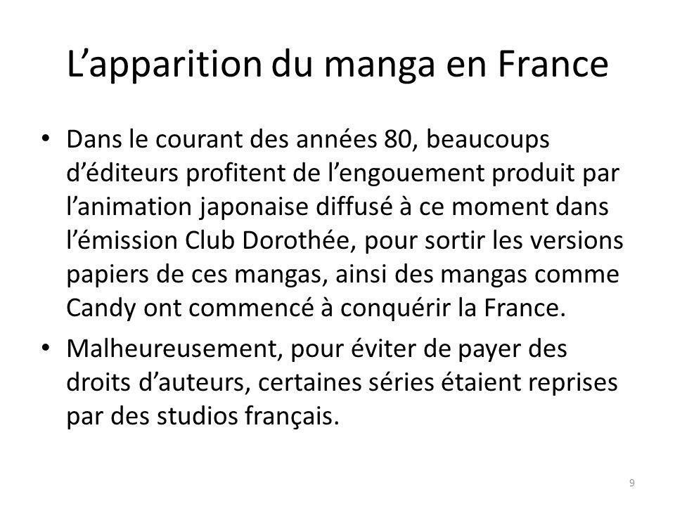 L'apparition du manga en France