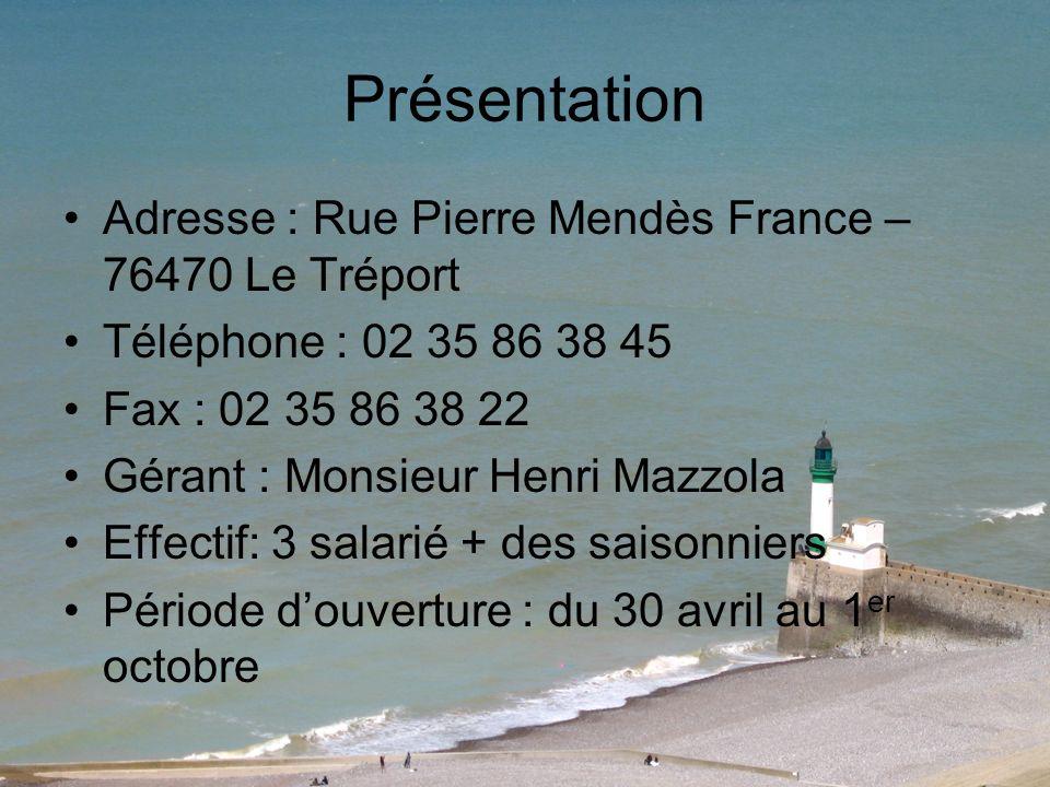Présentation Adresse : Rue Pierre Mendès France – 76470 Le Tréport