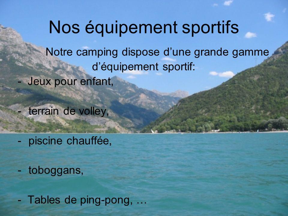 Nos équipement sportifs