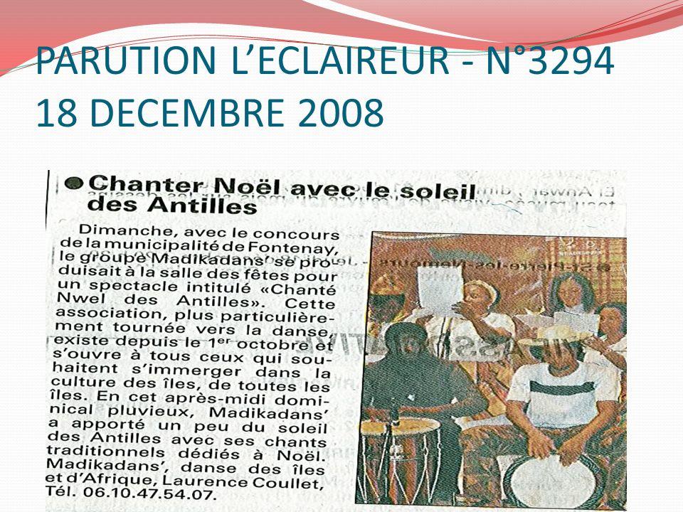 PARUTION L'ECLAIREUR - N°3294 18 DECEMBRE 2008