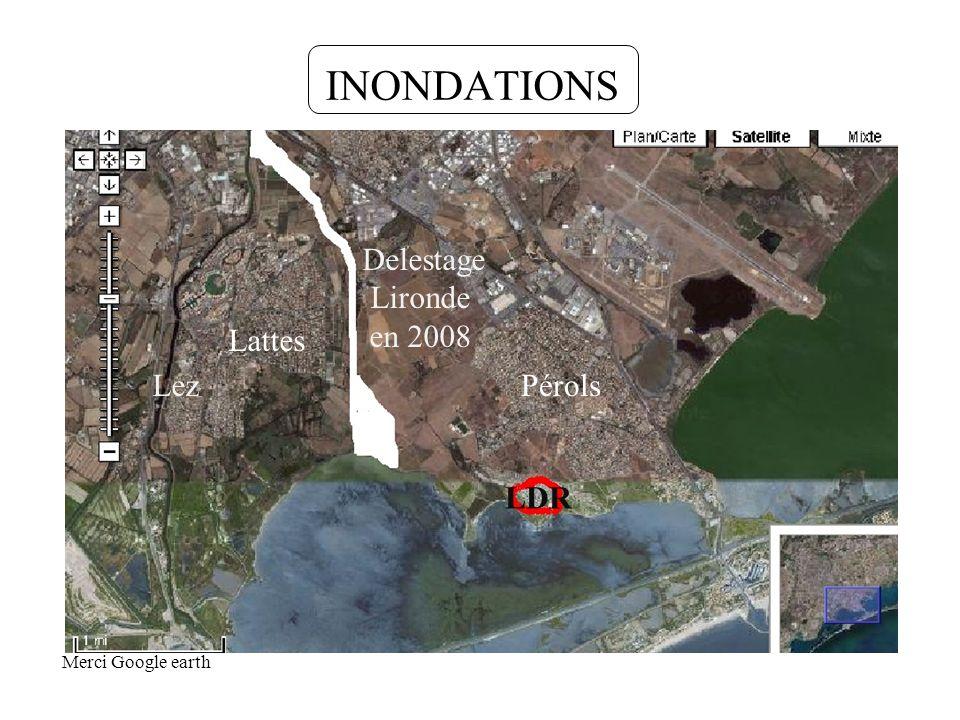 INONDATIONS Delestage Lironde en 2008 Lattes Lez Pérols LDR