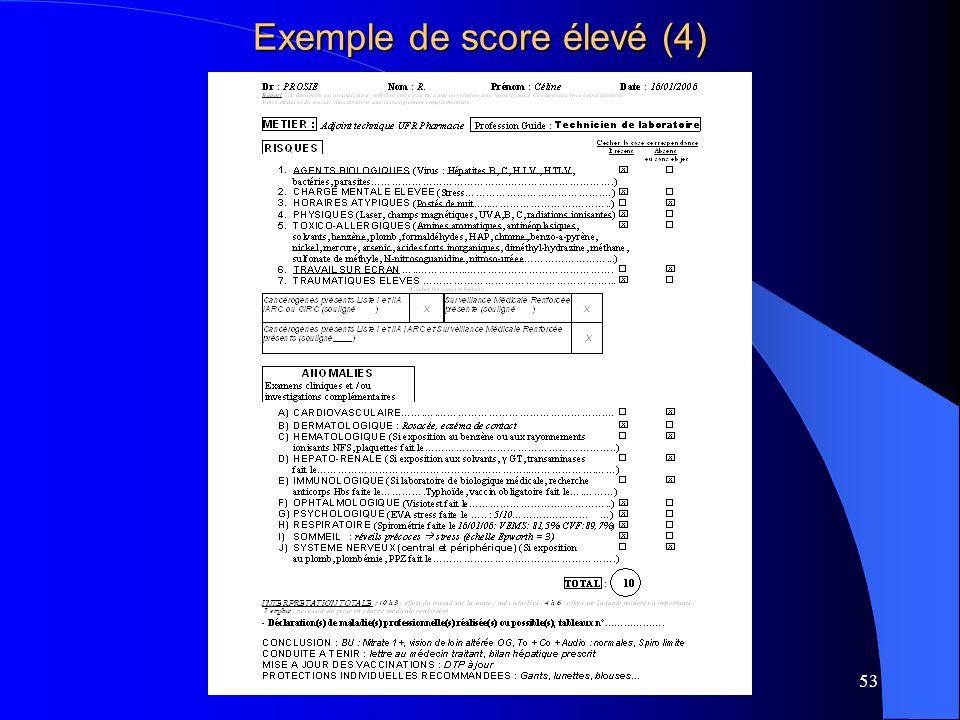 Exemple de score élevé (4)