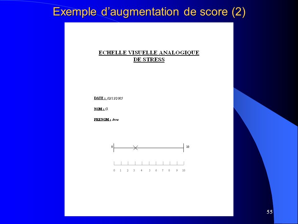 Exemple d'augmentation de score (2)
