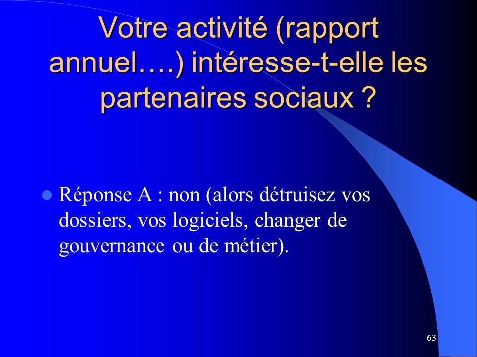 Votre activité (rapport annuel…
