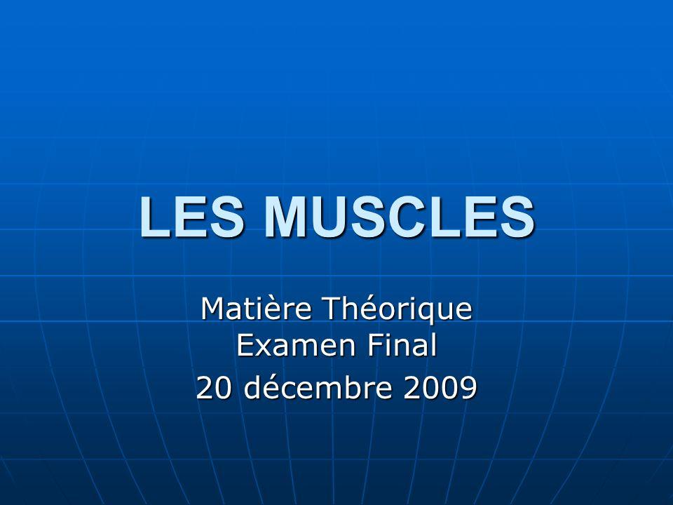 Matière Théorique Examen Final 20 décembre 2009