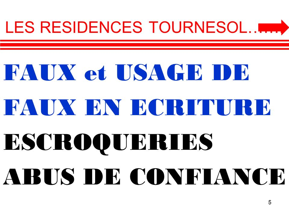 LES RESIDENCES TOURNESOL…….