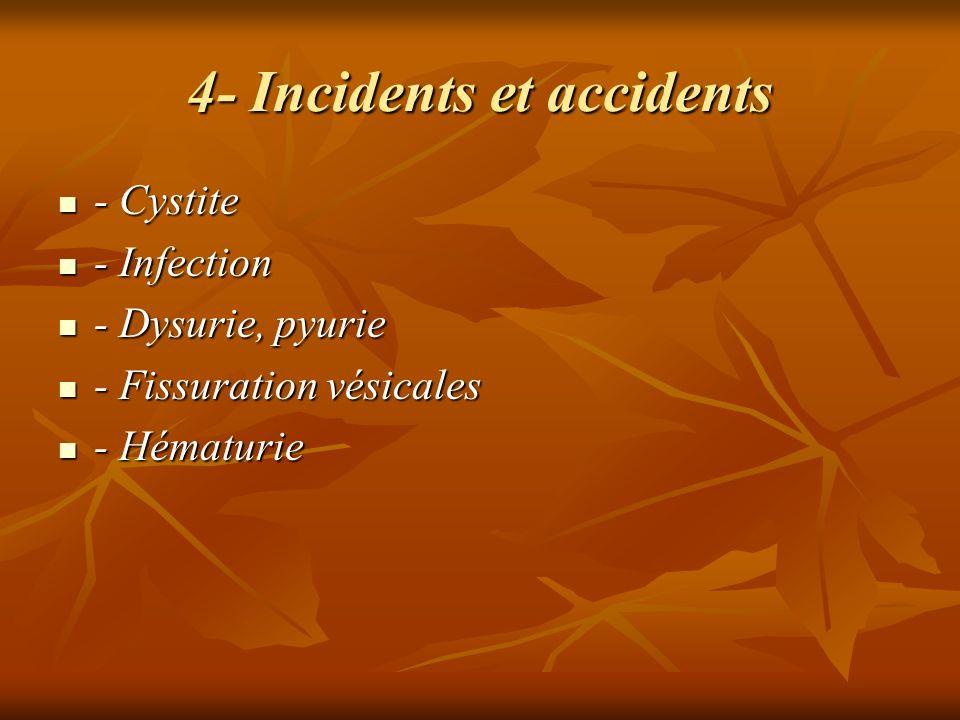 4- Incidents et accidents