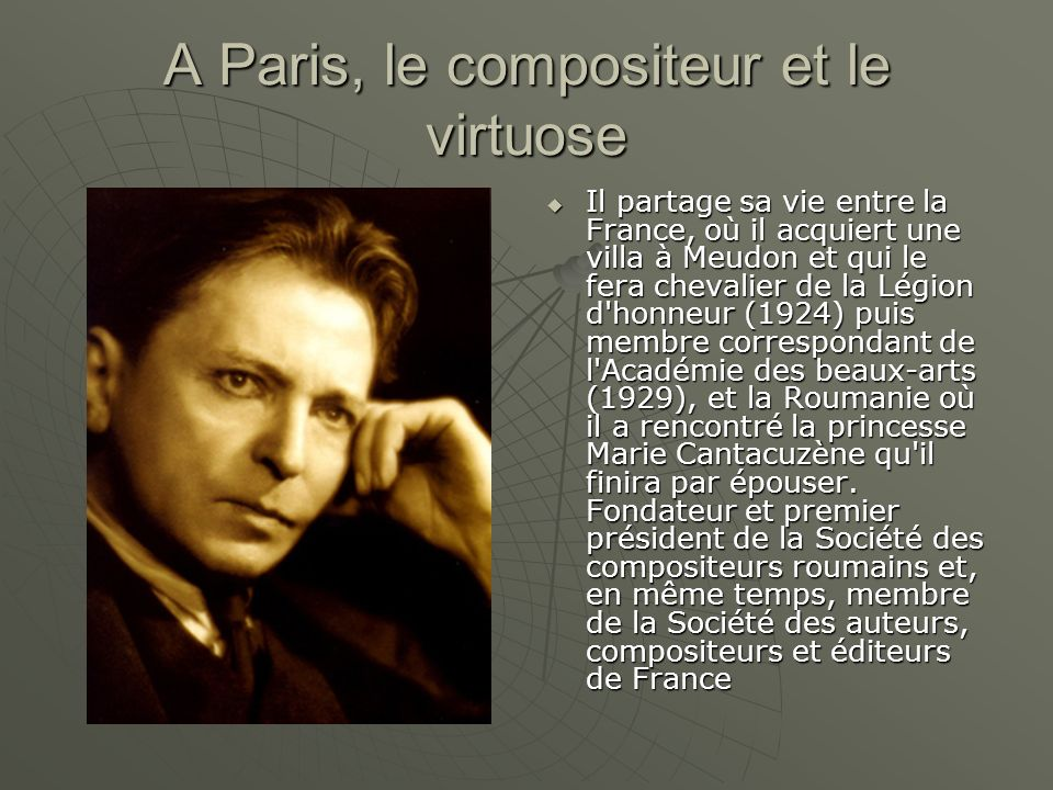 A Paris, le compositeur et le virtuose