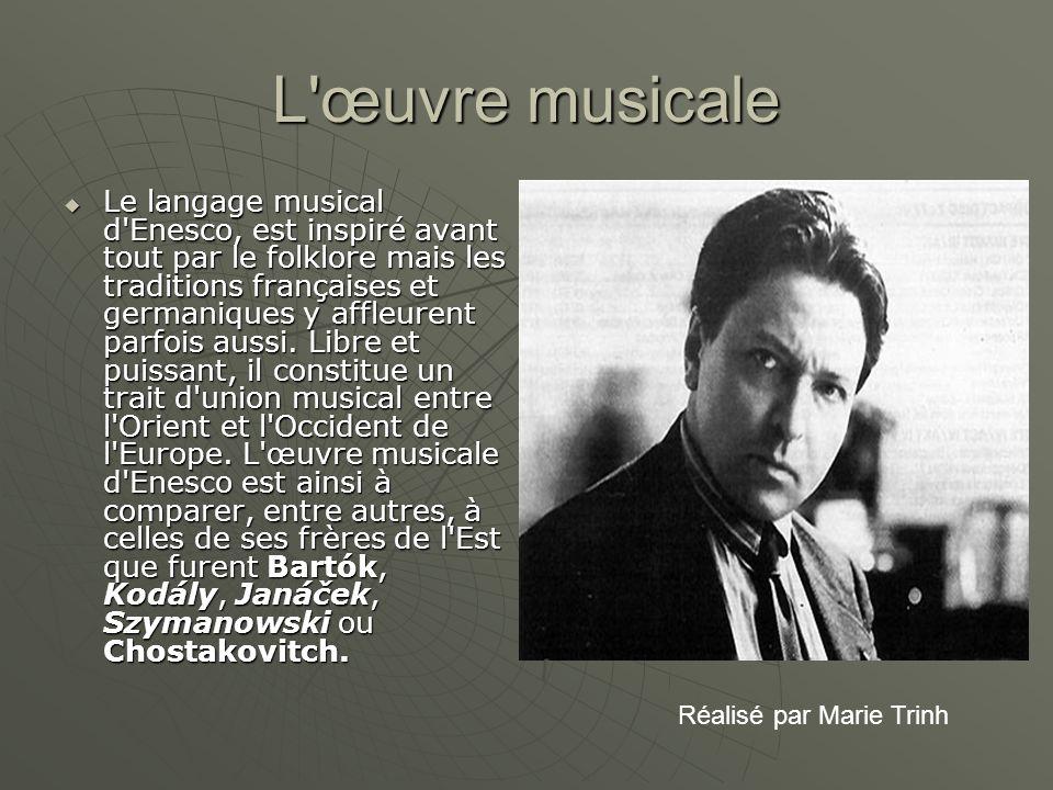 L œuvre musicale