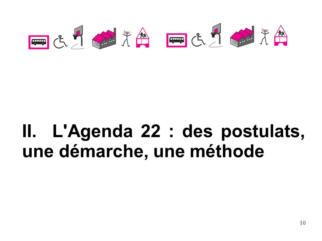 II. L Agenda 22 : des postulats, une démarche, une méthode