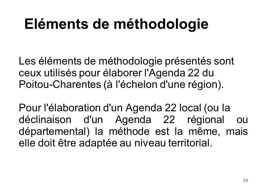 Eléments de méthodologie