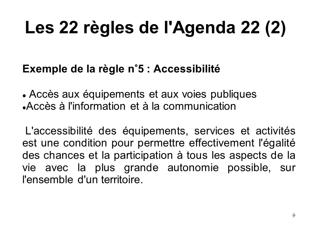 Les 22 règles de l Agenda 22 (2)