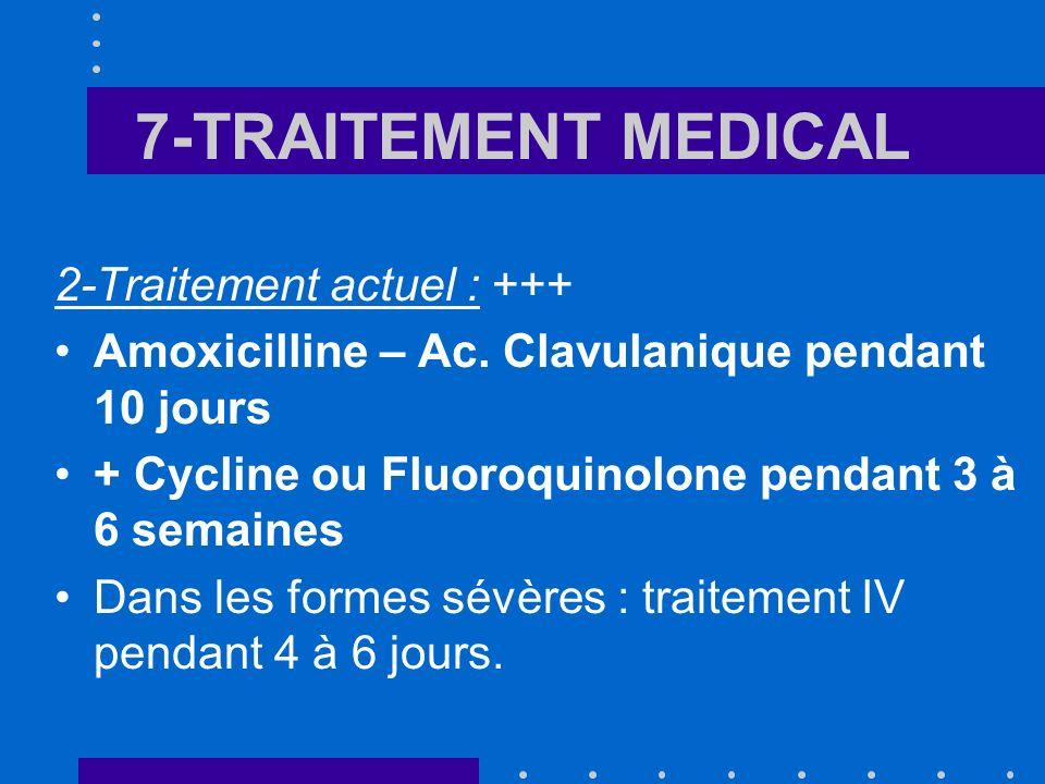 7-TRAITEMENT MEDICAL 2-Traitement actuel : +++