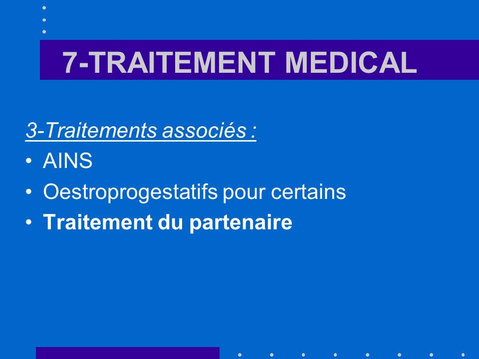 7-TRAITEMENT MEDICAL 3-Traitements associés : AINS