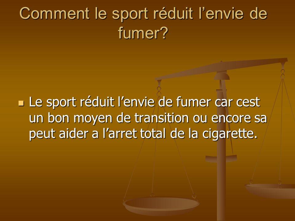 Comment le sport réduit l'envie de fumer