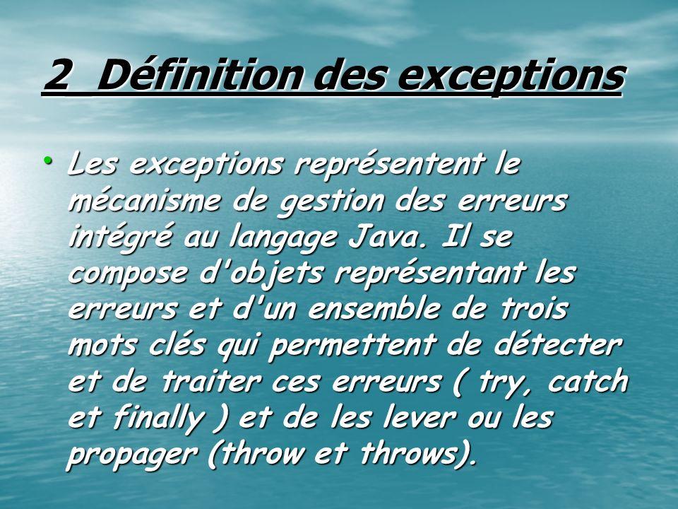 2_Définition des exceptions