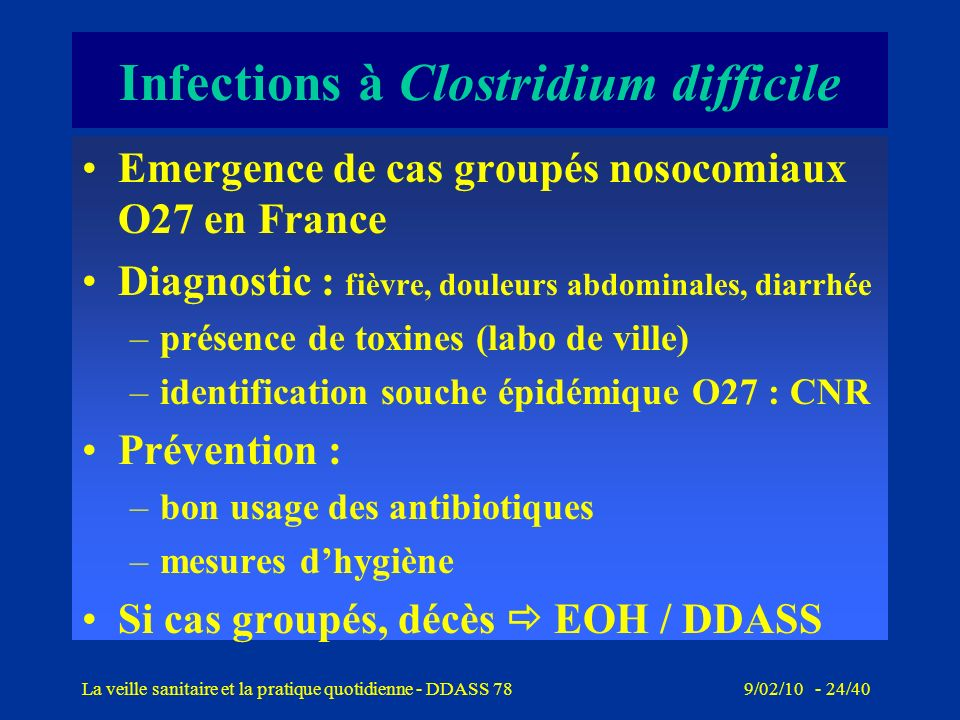 Infections à Clostridium difficile