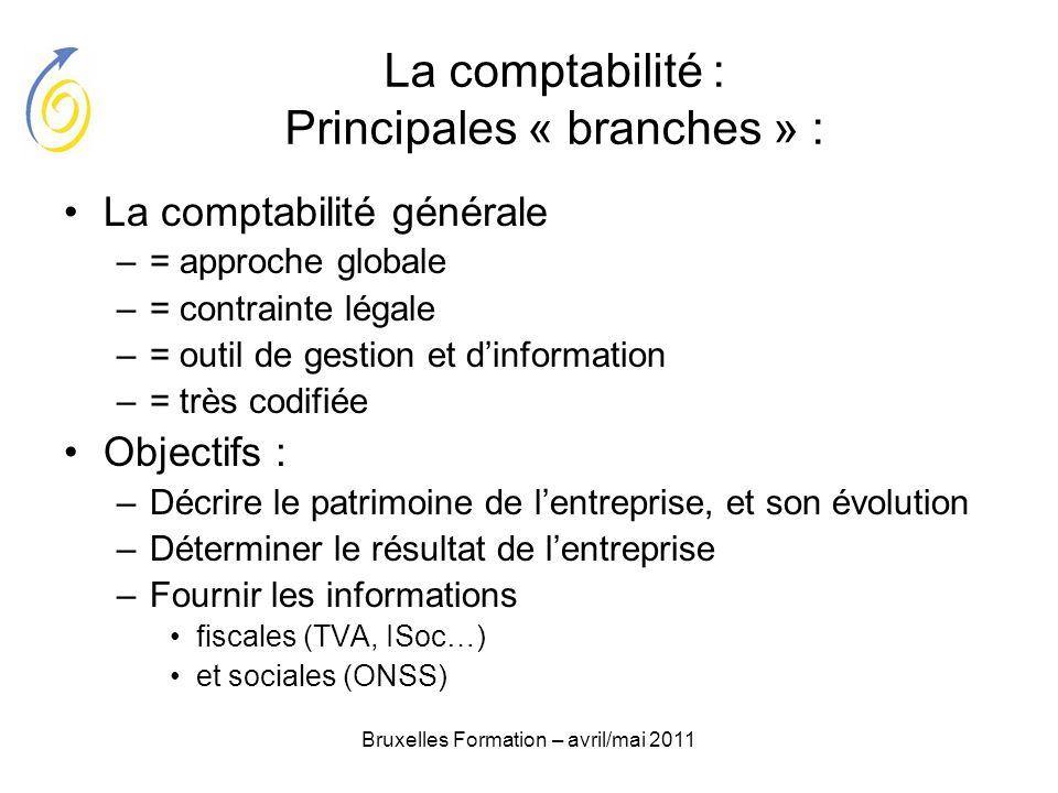 La comptabilité : Principales « branches » :