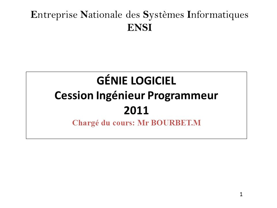 Entreprise Nationale des Systèmes Informatiques