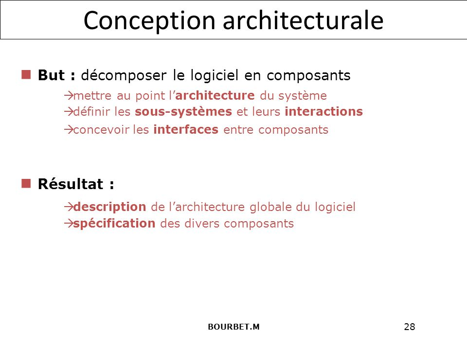 Entreprise nationale des syst mes informatiques ppt for Conception architecturale