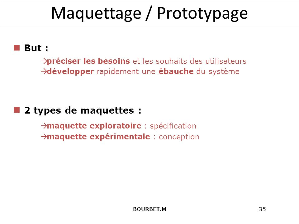 Maquettage / Prototypage