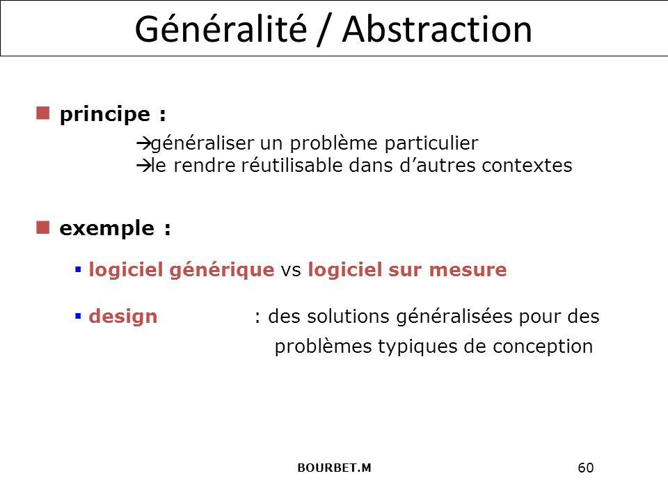 Généralité / Abstraction