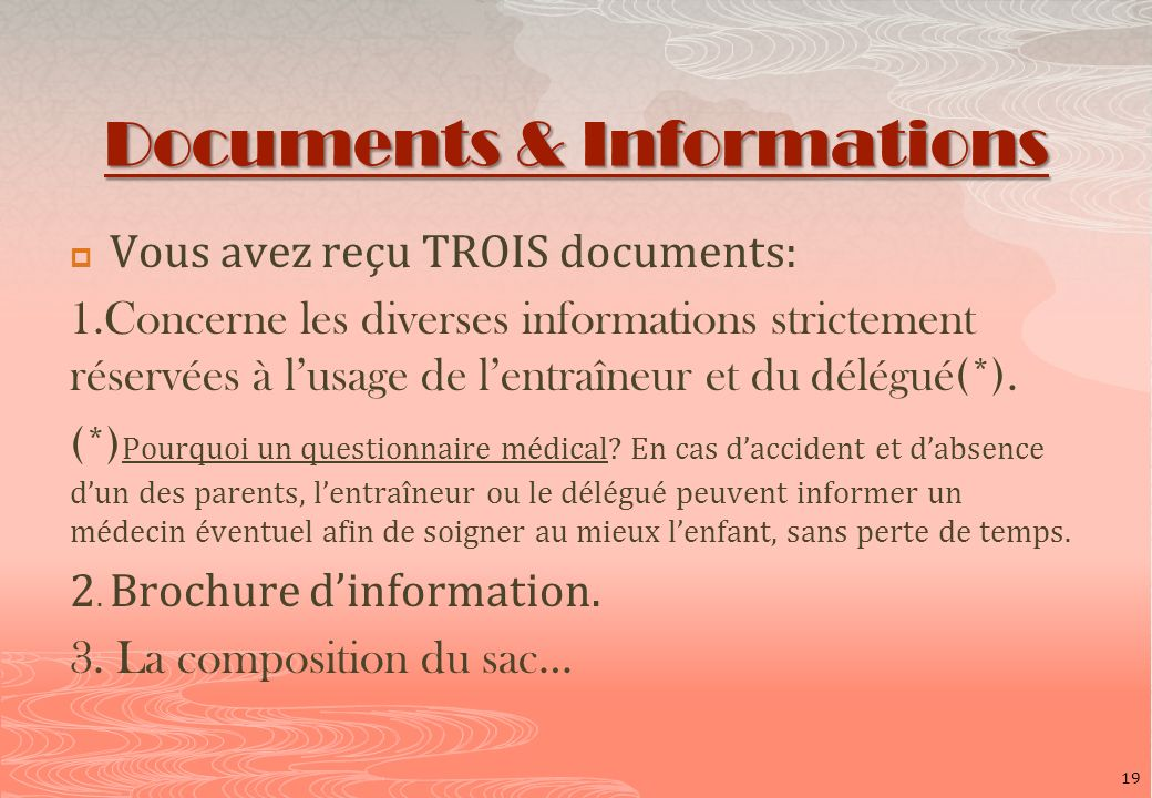 Documents & Informations