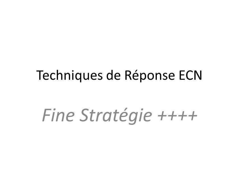 Techniques de Réponse ECN