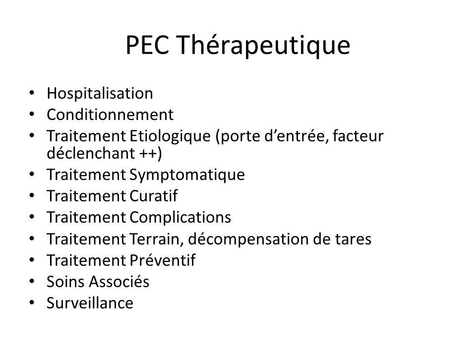 PEC Thérapeutique Hospitalisation Conditionnement