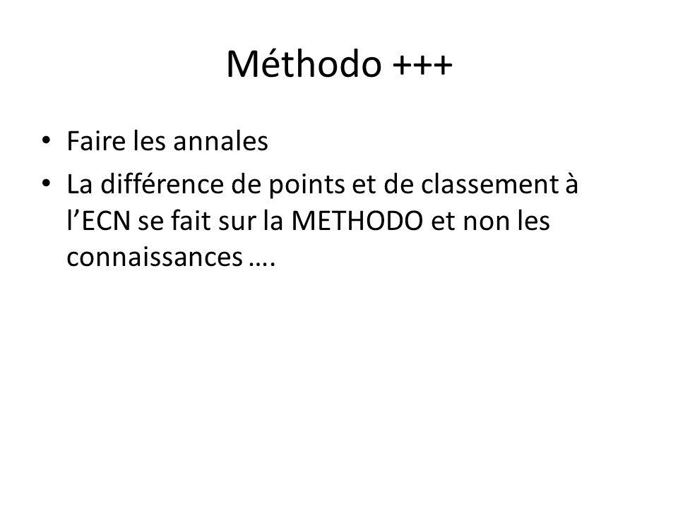 Méthodo +++ Faire les annales