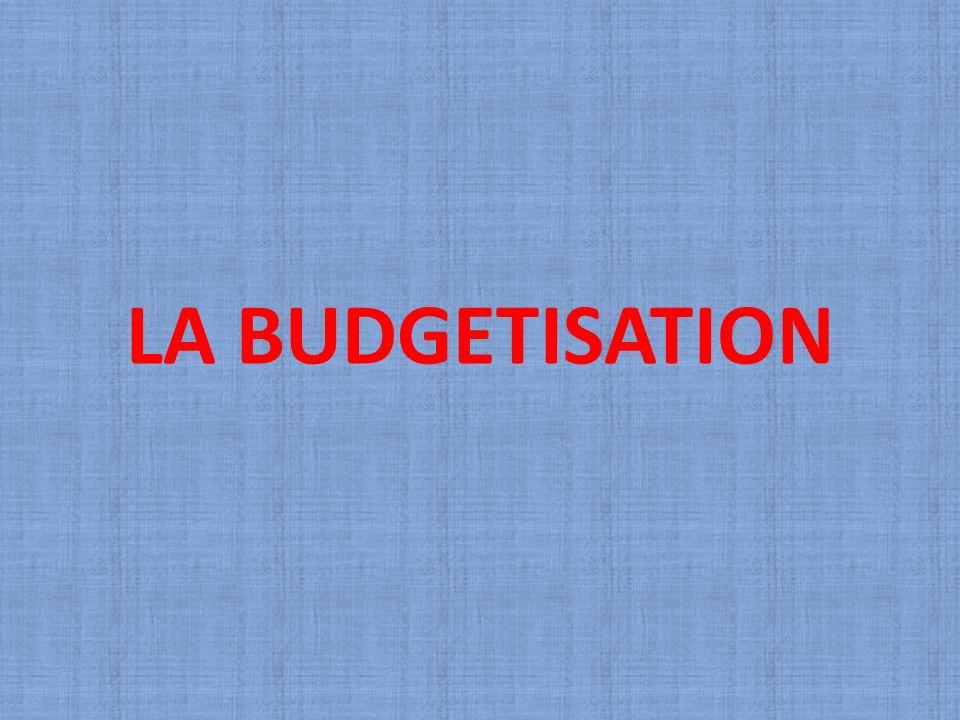 LA BUDGETISATION