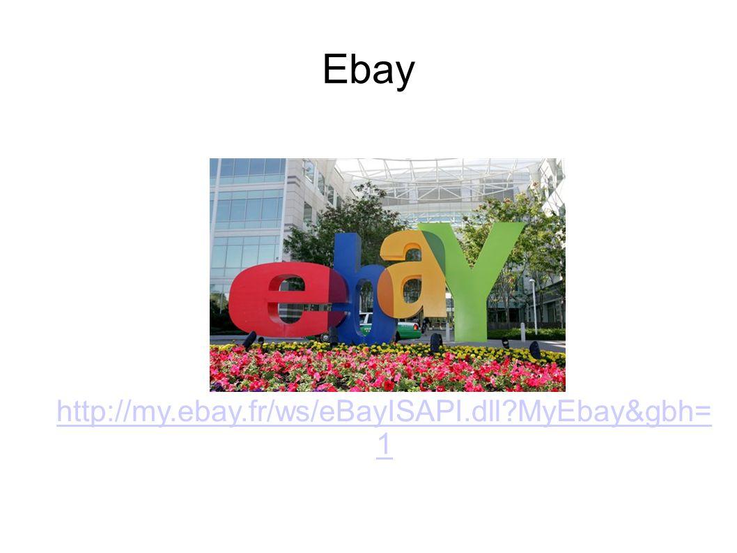 Ebay http://my.ebay.fr/ws/eBayISAPI.dll MyEbay&gbh=1