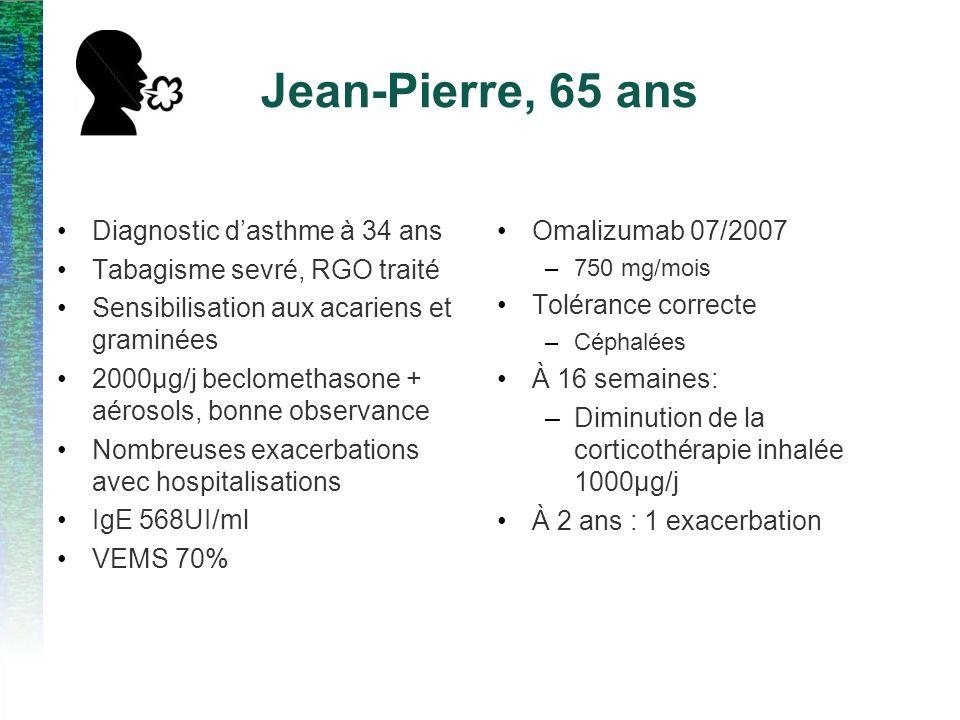 Jean-Pierre, 65 ans Diagnostic d'asthme à 34 ans