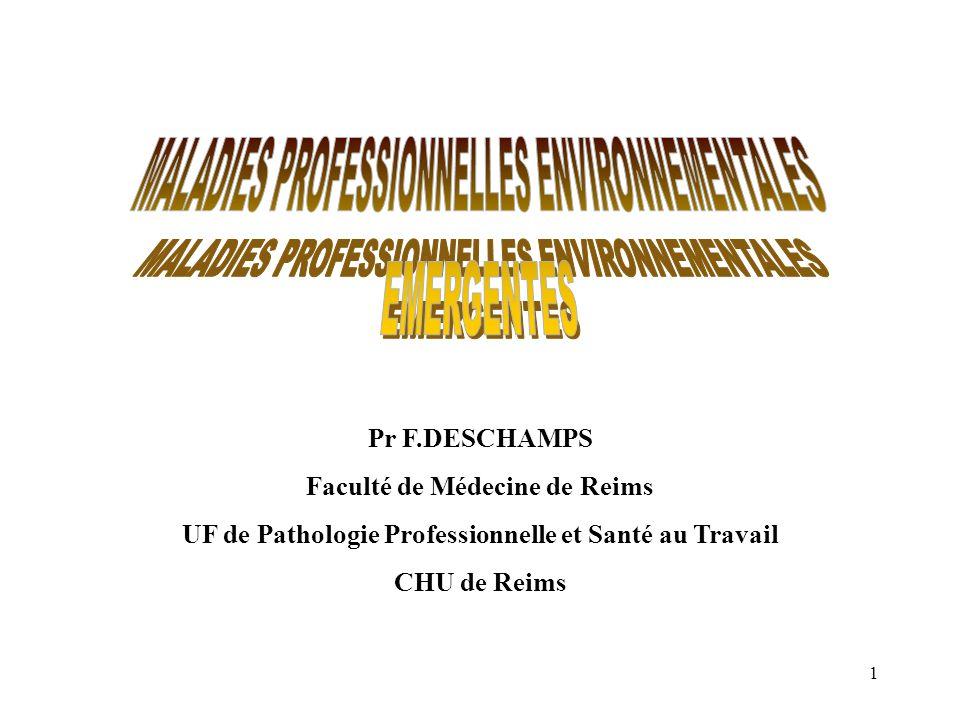 MALADIES PROFESSIONNELLES ENVIRONNEMENTALES EMERGENTES