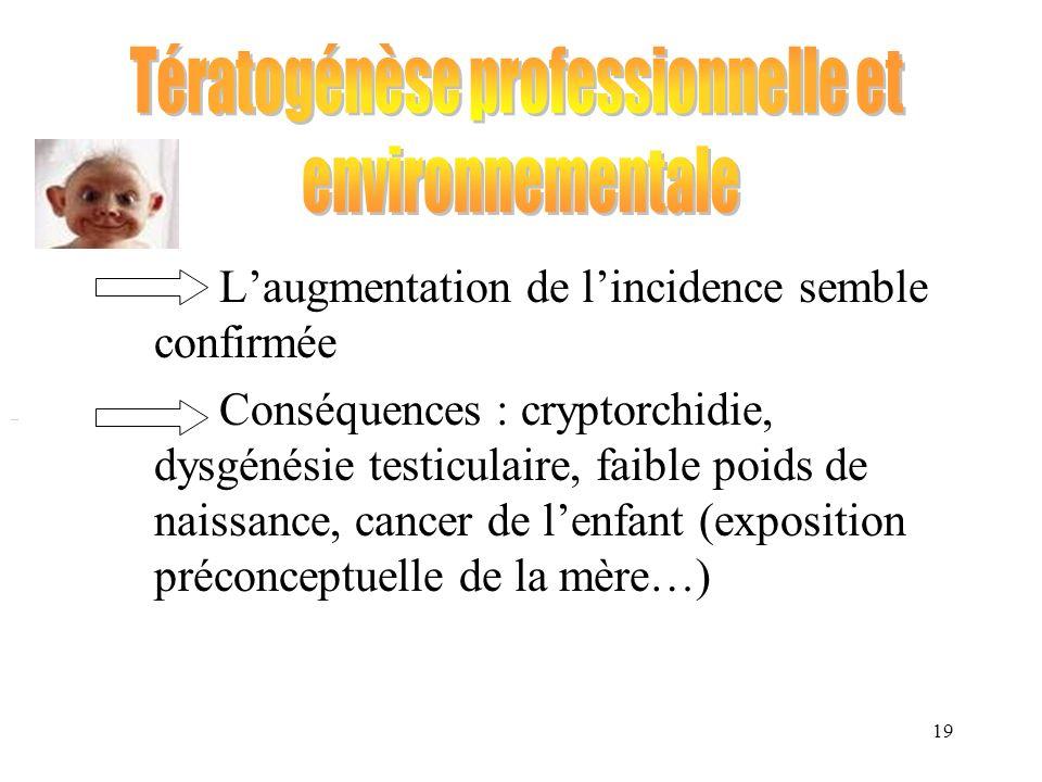Tératogénèse professionnelle et