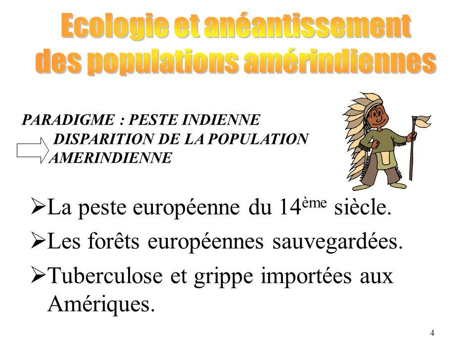 Ecologie et anéantissement des populations amérindiennes