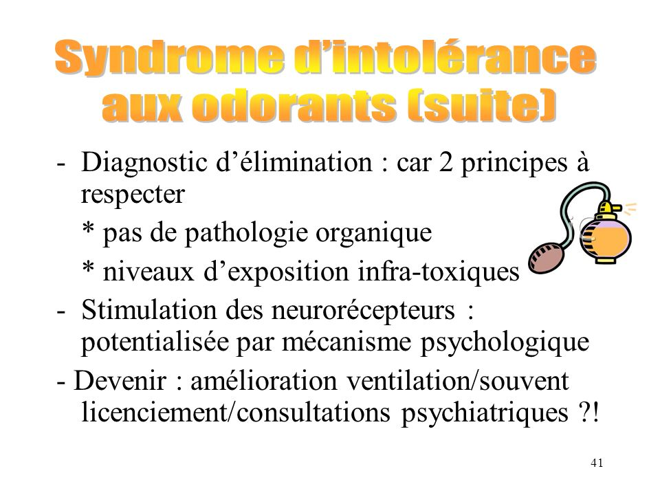 Syndrome d'intolérance