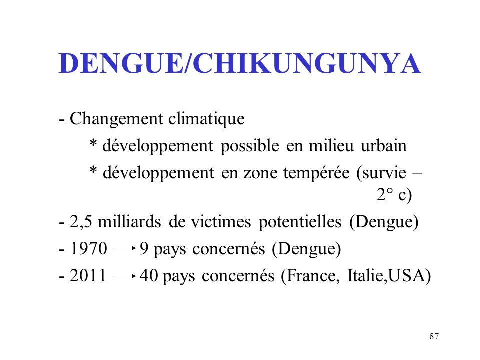 DENGUE/CHIKUNGUNYA - Changement climatique