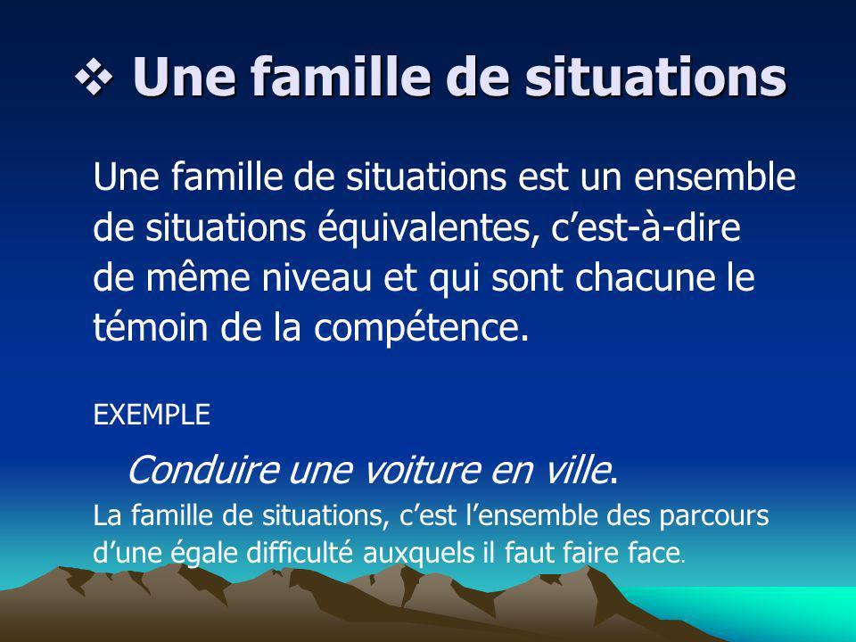 Une famille de situations