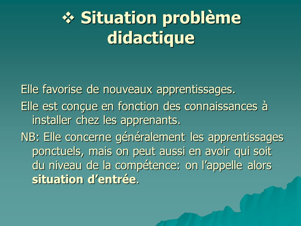 Situation problème didactique