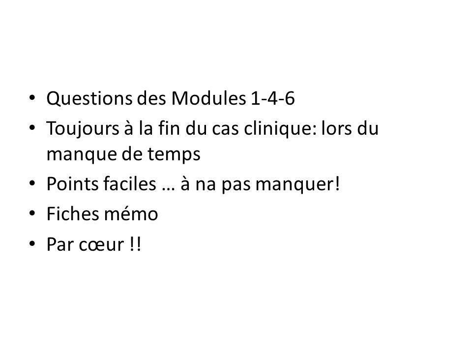 Questions des Modules 1-4-6
