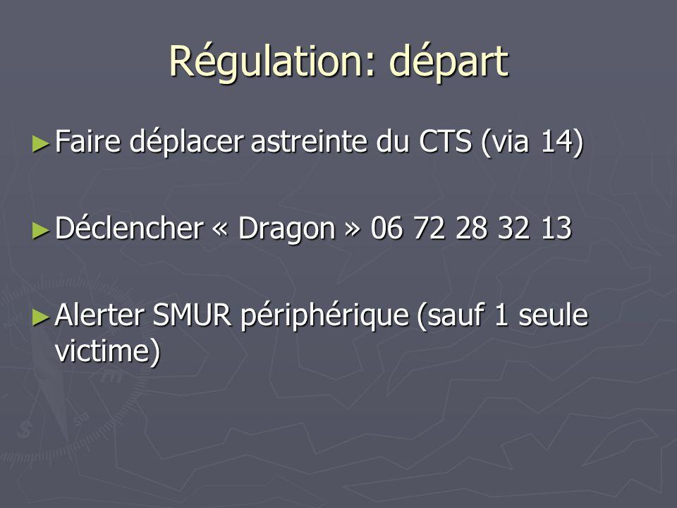 Régulation: départ Faire déplacer astreinte du CTS (via 14)