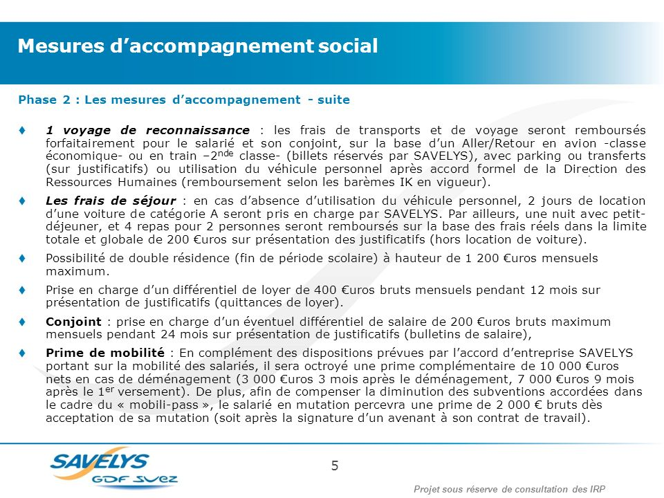 Mesures d'accompagnement social