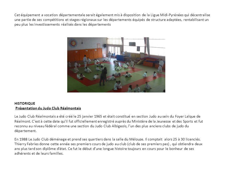 Présentation du Judo Club Réalmontais