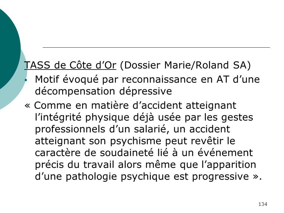 TASS de Côte d'Or (Dossier Marie/Roland SA)